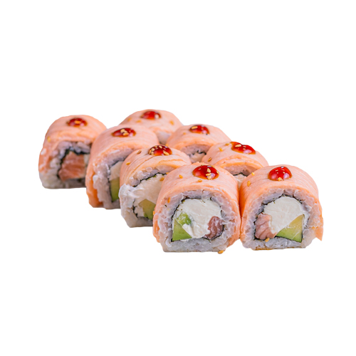 Delicious rolls in Baku, the most delicious sushi roll, sushi, sushi roll.