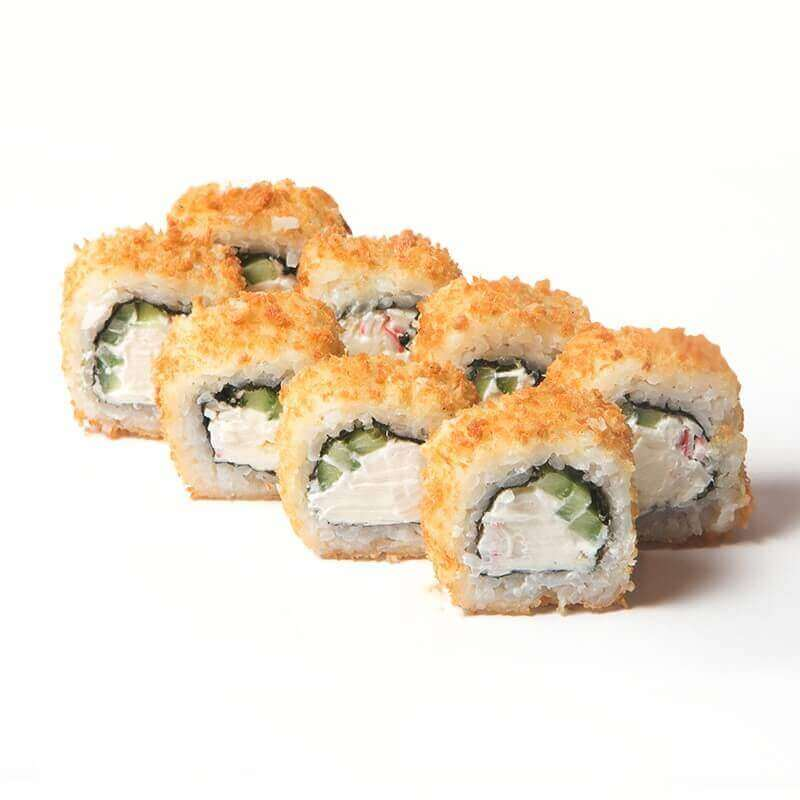 hot roll with krab