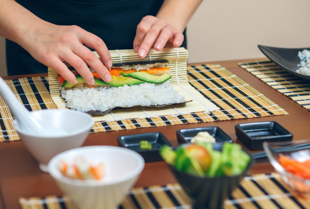 Rules for preparing sushi
