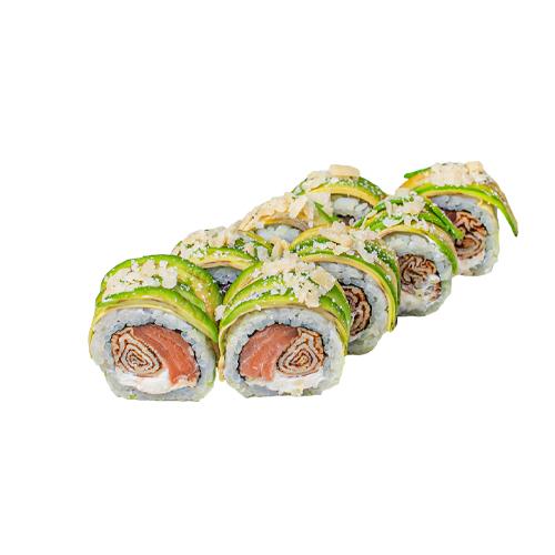 Honshu sushi roll - one of the most delicious sushi rolls. Delicious sushi roll, delicious sushi in Baku, sushi rolls in Baku.