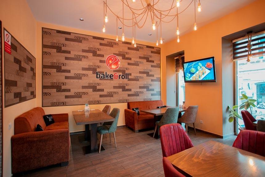Bakenroll Sushi Restoranı daxildən görüntü
