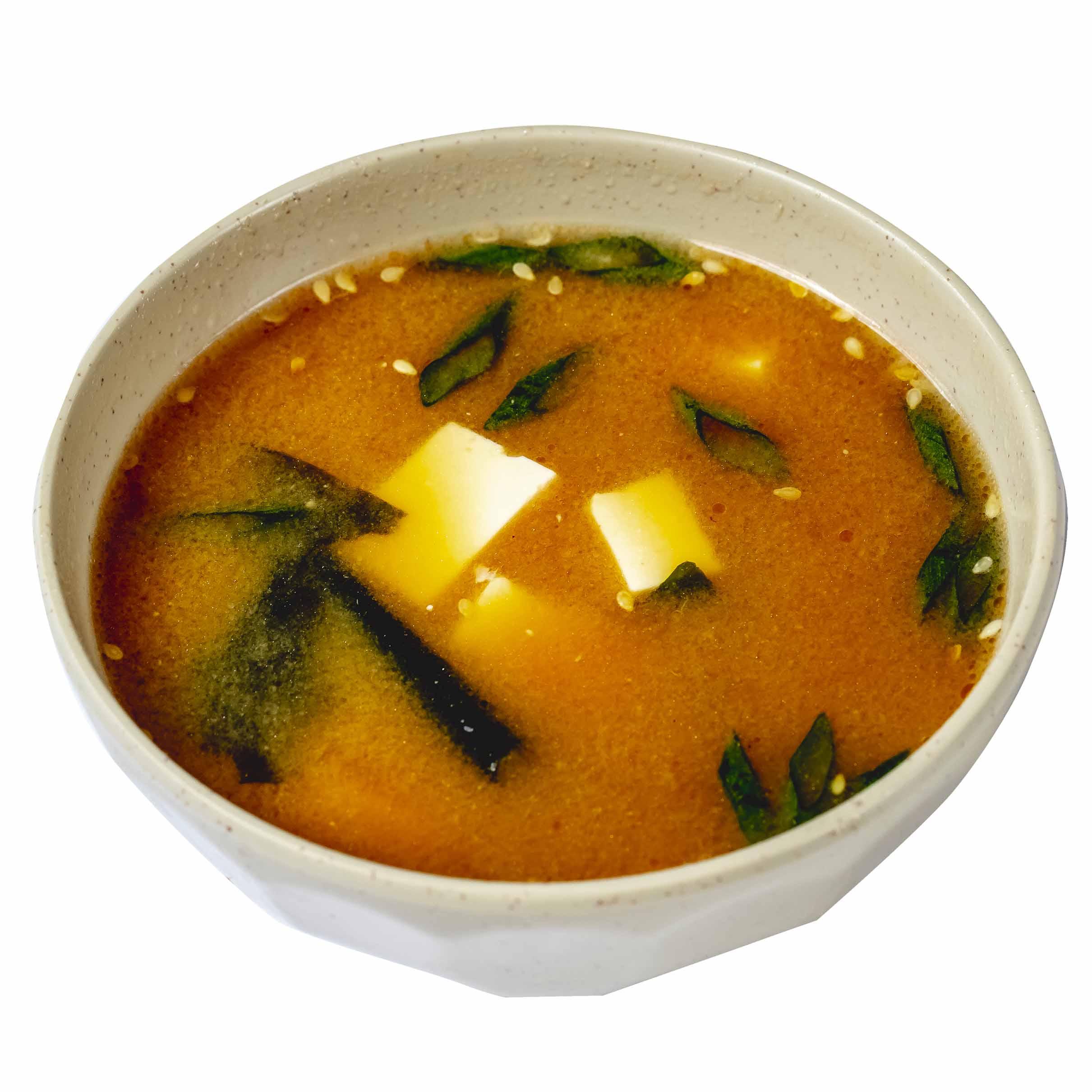 Şorba miso tofu pendirlə