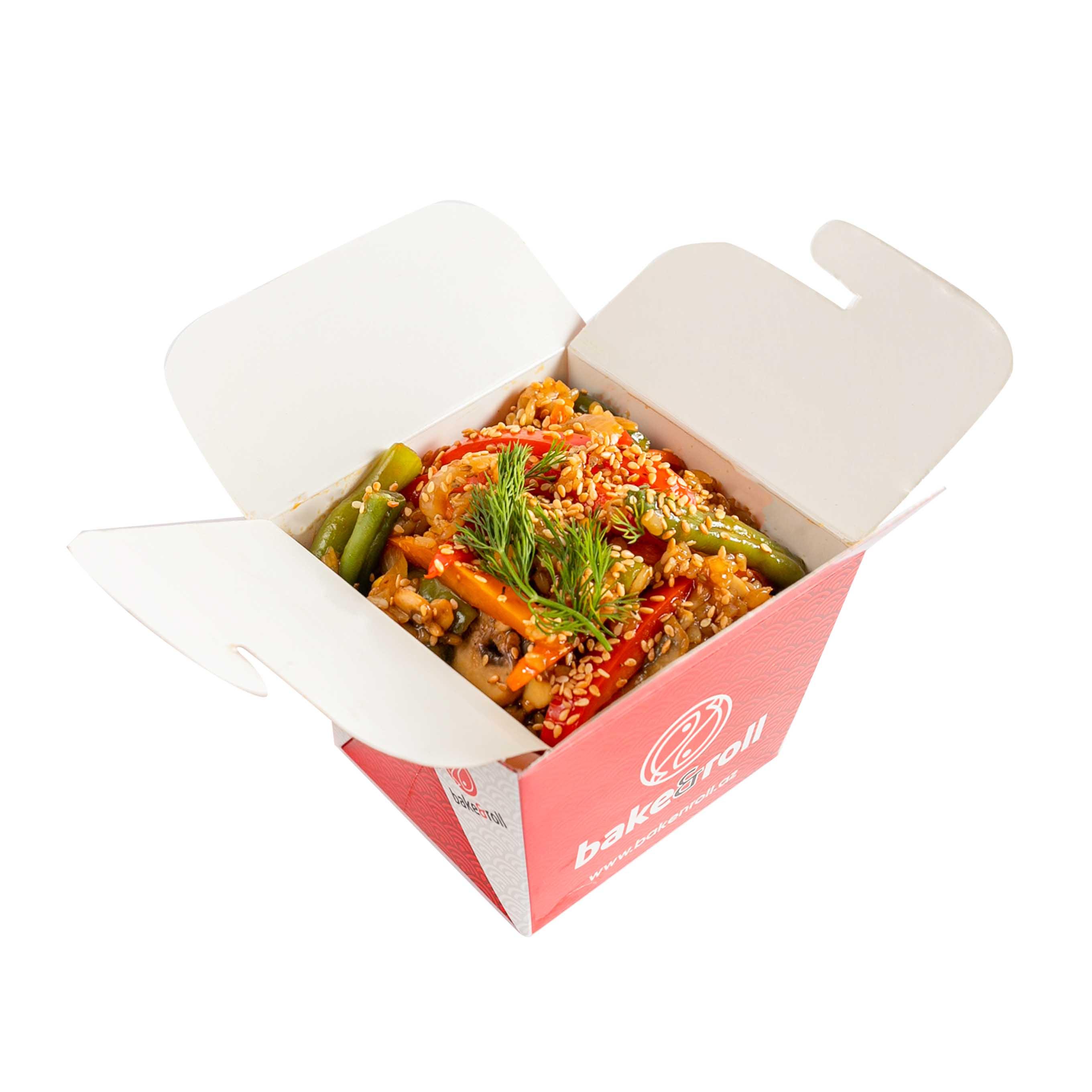 Жаренный рис с овощами